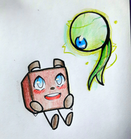 Tiny Box Tim + Septiceye Sam by DatWeirdoWhoLuvsMilk