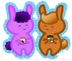 PB n Jelly Bunnies by pinkplaidrobot