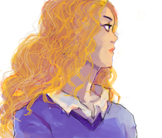 Curly-Haired Lady by Kukiko-tan