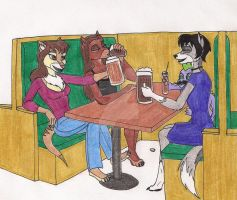 Cheers - I'll Drink To That by 13foxywolf666