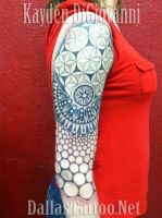 Geometric Tattoo Sleeve by kayden7