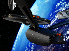 Enterprise Orbit by JayPrower