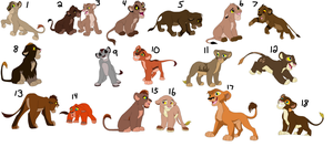 Lion Cub Adopts Sheet by RebasTweeba