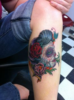 Sugar Skull Gypsy Tattoo by mubbamubba