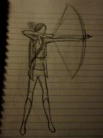 Day 11- KATNISS IN A POSE OMG. by mangojuice4lyfe