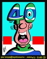 Green and Blue Fellow feeling fine 40 Canuck Wins by tony-p-power