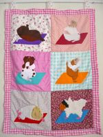 Guinea Pig Yoga wall hanging by Crafty-lil-vixen