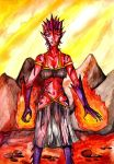Commission - Fire Elemental. by ZoZo-20