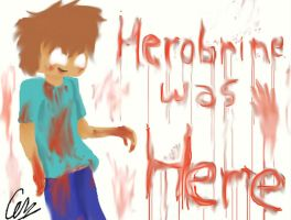 Herobrine was here... by LulaFrow
