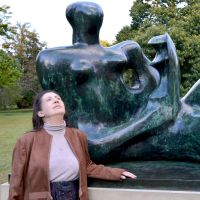 Mrs A And Kew's New Henry Moore Square Composition by aegiandyad