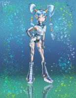 CyberMoon Princess - colored by TwickyGirl