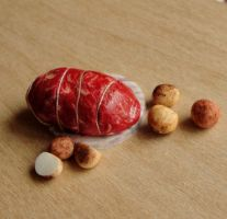 1:12 Scale Meat and Potatoes by fairchildart