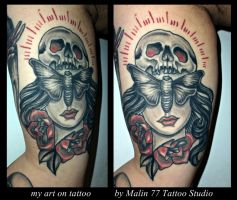 my art on tattoo by MALIN by oldSkullLovebyMW