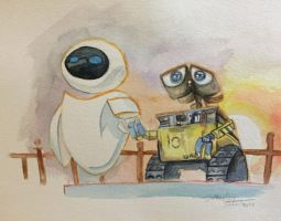 Walle and Eve by blueskydrops8