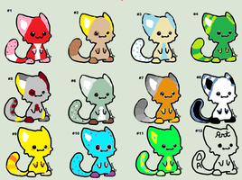 Big Batch of Adopts by CopperleafThecat