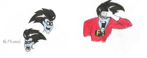 Freakazoid Face sketches by koleniko707