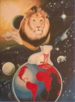 The Lion and the Lamb by daghaile