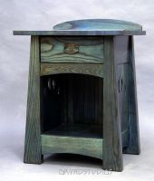 Blue Moon Nightstand by DryadStudios