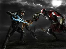 Master Chief vs Kratos by jose144