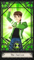 Ben 10 Tarot- 11. The Justice by CheshireP