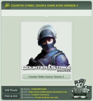 Counter-Strike: Source Icon v3 by CODEONETEAM