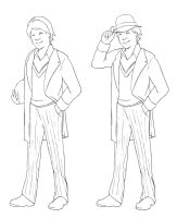 5th Doctor Lineart by Kittymimi200