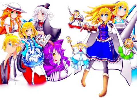 Touhou Project : Alice and Alice by Iormi