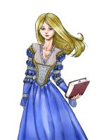 Ravenclaw ghost in color by ucchan