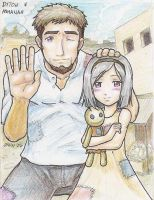 Ashanah and her Father by 13671Onin