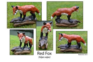 Woodland Red Fox Sculpture by wolfysilver