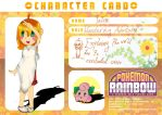Talin's Character Card by YoshiCafe
