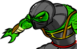 Reptile Mortal Kombat 9 by DevilkingOZ