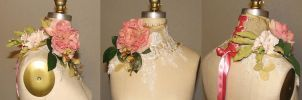 Spring Floral Neck Corset by ElectraDesigns
