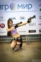 IgroMir2013 Lara Croft cosplay (TR: Legend (pink)) by LiSaCroft