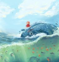 .Ship-Shape with Ponyo. by Lii-chan