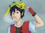 Pokemon: Red and Pika by kat-reverie