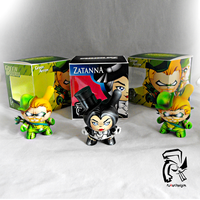 Zatanna and Green Arrow Dunnys! by FullerDesigns