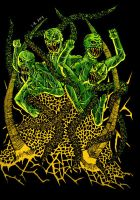 Green Dudes of Hell Collab. by oshirockingham