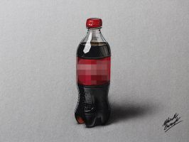 Drawing of a Coca-Cola plastic bottle by marcellobarenghi