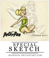Special Sketch - TINKER BELL by HigSousa