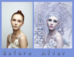 Winter's Bride Before and After by debzdezigns-lamb68