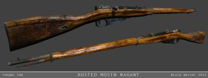 Rusted Mosin Nagant model by Bawarner