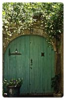 Green door by jennystokes