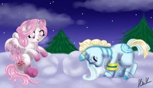 Wanna build a snowpony? by Hoshi-Hana
