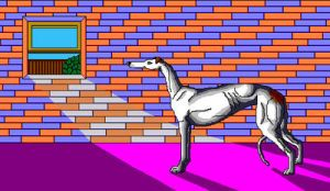 'Lighted Greyhound' in MS Paint by Cecilia-Schmitt