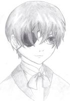 My first Ciel Phantomhive drawing =D by laartje205