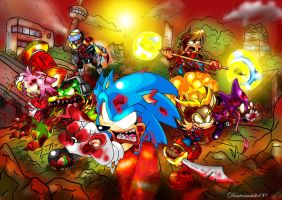 Sonic Zombies by NextGrandcross