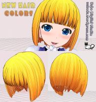 3DCG new style color hair by hadoc