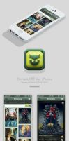 deviantART iPhone app concept by SRudy