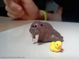 Mini Walrus and Rubber Duck by theclassymonter